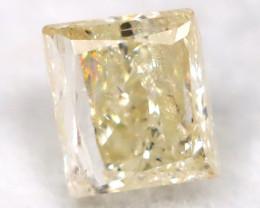 0.26Ct Natural Princess Cut Untreated Fancy Diamond BM0566