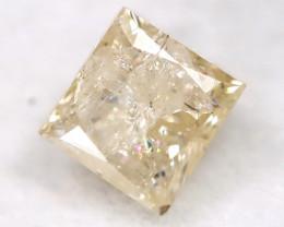 0.28Ct Natural Princess Cut Untreated Fancy Diamond BM0568