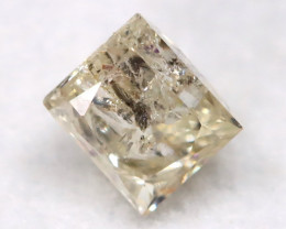 0.25Ct Natural Princess Cut Untreated Fancy Diamond BM0572