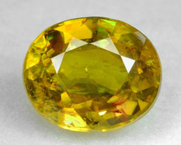 NATURAL SPHENE WITH DRAMATIC FIRE AFGHANISTAN SP6