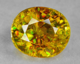 0.81 CT SPHENE WITH DRAMATIC FIRE AFGHANISTAN SP12