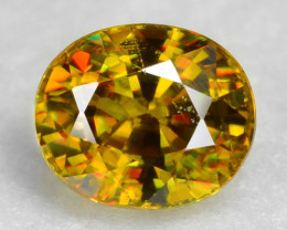 0.76 CT SPHENE WITH DRAMATIC FIRE AFGHANISTAN SP15