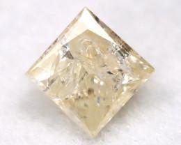 0.25Ct Natural Princess Cut Untreated Fancy Diamond BM0573