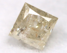 0.22Ct Natural Princess Cut Untreated Fancy Diamond BM0580