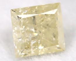 0.21Ct Natural Princess Cut Untreated Fancy Diamond BM0584