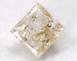 0.21Ct Natural Princess Cut Untreated Fancy Diamond BM0591