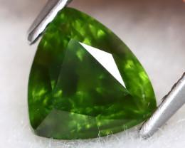 Green Sapphire 1.70Ct Trillion Cut Natural Green Sapphire B0913
