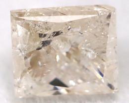 0.27Ct Natural Princess Cut Untreated Fancy Diamond BM0597