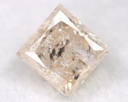 0.25Ct Natural Princess Cut Untreated Fancy Diamond BM0598