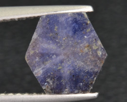 Natural Trapiche Sapphire 3.54 Cts from  Afghanistan