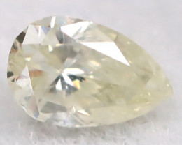Light Yellow 3.4mm Natural Untreated Fancy Diamond BM0671