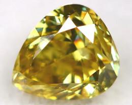 Green Diamond 0.20Ct Natural Untreated Fancy Diamond AT0686