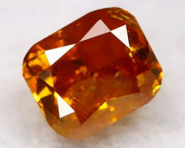 Reddish Orange Diamond 0.15Ct Untreated Genuine Fancy Diamond B1009