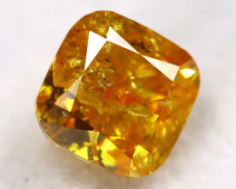 Yellowish Orange Diamond 0.30Ct Untreated Genuine Fancy Diamond C1008