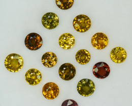 16.84Ct Natural Multi colour zircon round 6mm parcel