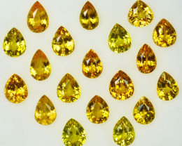 6.67Ct Natural Canary Yellow sapphire pear 5 X 4mm parcel