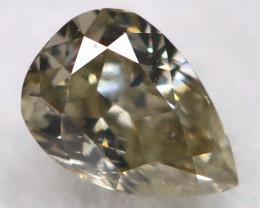 Greyish Green 2.8mm Natural Untreated Fancy Diamond BM0694