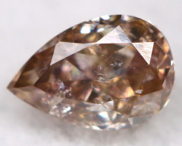 Champagne Pink 0.16Ct Natural Untreated Fancy Diamond BM0696