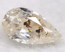 Light Yellow 4.2mm Natural Untreated Fancy Diamond BM0697