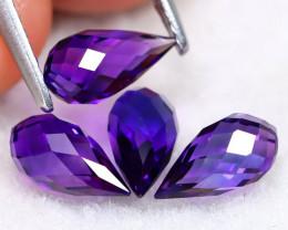 Uruguay Amethyst 3.02Ct VVS Briolette Cut Natural Violet Amethyst A1014