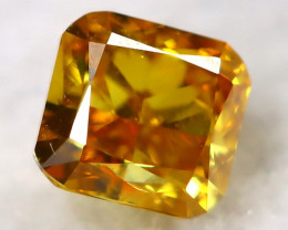 Intense Yellow Orange Diamond 0.12Ct Untreated Genuine Fancy Diamond A1018