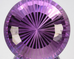 ~CUSTOM CUT~ 37.00 Cts Natural Purple Amethyst Round Bolivia
