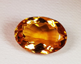 3.78 ct Top Quality Gem Beautiful Oval Cut Natural Citrine