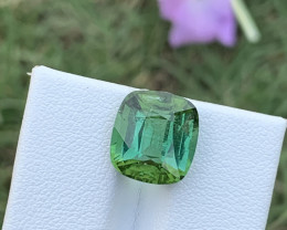 6.70 carats Bluish Green colour Tourmaline Gemstone  From Afghanistan