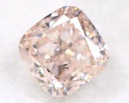 Peach Pink Diamond 0.18Ct Natural Untreated Fancy Diamond A1102