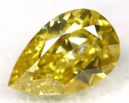 Intense Yellow Diamond 0.26Ct Natural Untreated Fancy Diamond A1109