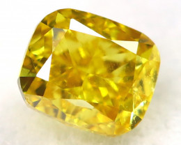 Intense Yellow Diamond 0.22Ct Natural Untreated Fancy Diamond A1110