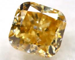 Yellowish Orange Diamond 0.16Ct Natural Untreated Fancy Diamond B1104