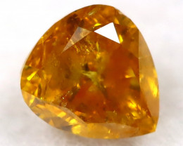 Yellowish Orange Diamond 0.15Ct Natural Untreated Fancy Diamond B1106