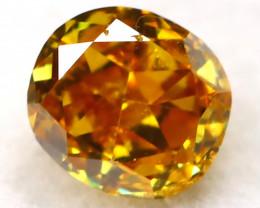 Yelllowish Orange Diamond 0.13Ct Natural Untreated Fancy Diamond B1110