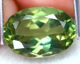 Green Apatite 4.71Ct Oval Cut Natural Vivid Green Apatite C1101
