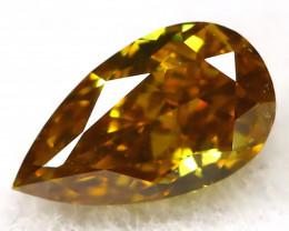 Greenish Champagne Diamond 0.11Ct Natural Untreated Fancy Diamond B1111
