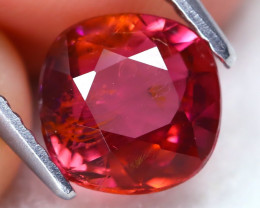 Pink Tourmaline 1.71Ct Square Cut Natural Vivid Pink Tourmaline C1103