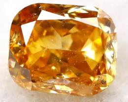 Yellowish Orange Diamond 0.11Ct Natural Untreated Fancy Diamond B1114