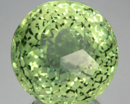 37.81Cts Gorgeous Natural Green Amethyst-Prasiolite Round Custom