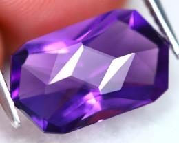 Uruguay Amethyst 4.23Ct VVS Master Cut Natural Violet Amethyst AT0713