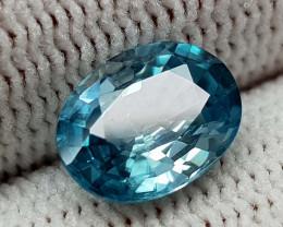 2.55CT NATURAL BLUE ZIRCON BEST QUALITY GEMSTONE IIGC004