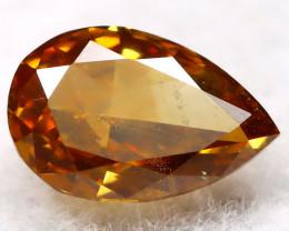 Reddish Orange Diamond 0.16Ct Natural Untreated Fancy Diamond AT0706