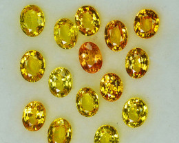 4.46Cts Natural Vivid Yellow Sapphire 5 X 3mm Oval Cut Parcel