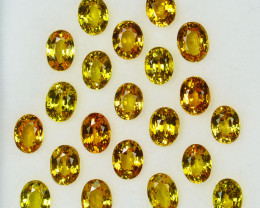6.88Cts Natural Vivid Yellow Sapphire 5 X 3mm Oval Cut Parcel