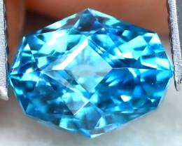 3.18Ct VVS Master Cut Natural Ratthanakiri Blue Zircon AT0729