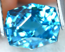 3.30Ct VVS Master Cut Natural Ratthanakiri Blue Zircon AT0730