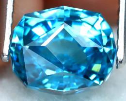 3.54Ct VVS Master Cut Natural Ratthanakiri Blue Zircon AT0731