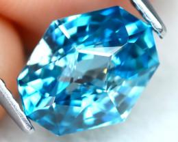 4.20Ct VVS Master Cut Natural Ratthanakiri Blue Zircon AT0737