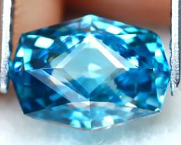 3.18Ct VVS Master Cut Natural Ratthanakiri Blue Zircon AT0738