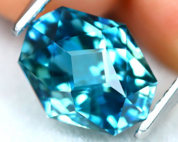 3.01Ct VVS Master Cut Natural Ratthanakiri Blue Zircon AT0739
